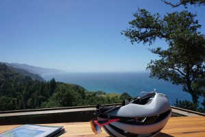 Great lunch views in Big Sur.