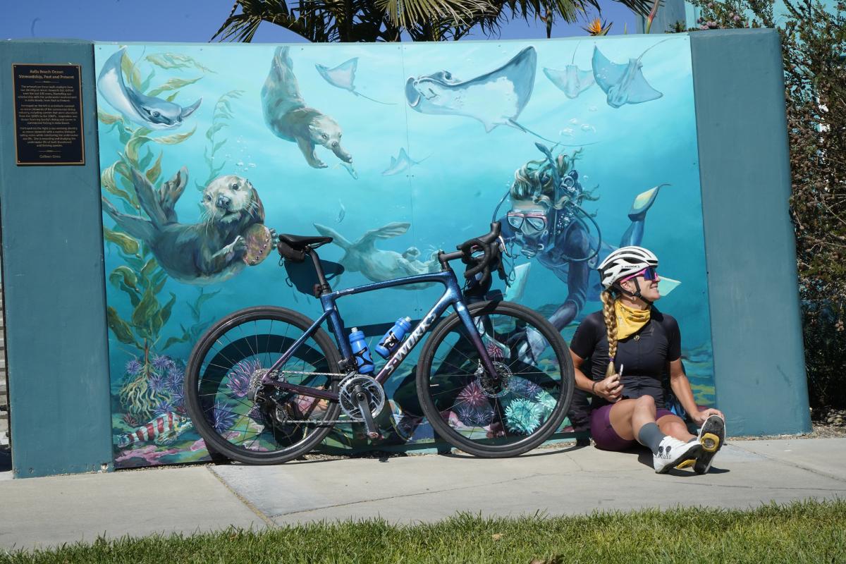 Avila Beach cycling, Alison Tetrick, Central Coast Aquarium, Avila Beach Drive